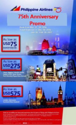 Philippine_Airline International Promo Fare