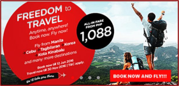 Air Asia Promo Fare Tickets 2016