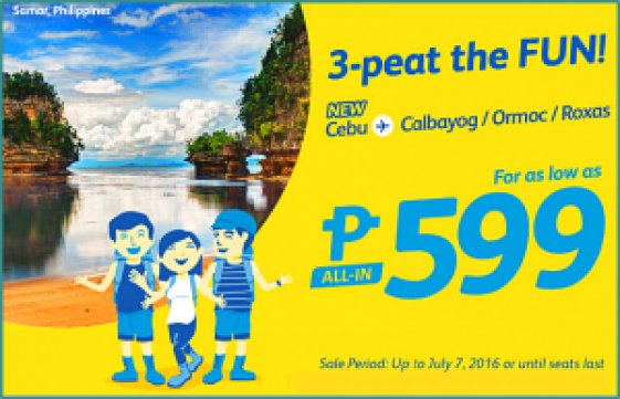 Cebu Pacific Air Promo Seats 2016