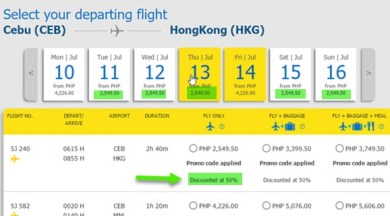 Cebu-Pacific-50-Off-Seat-Sale-Cebu-to-Hongkong-July-2017