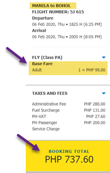 How to book ticket online cebu pacific