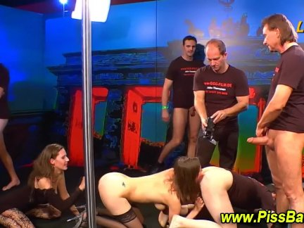 Orgy with pissdrinking sluts