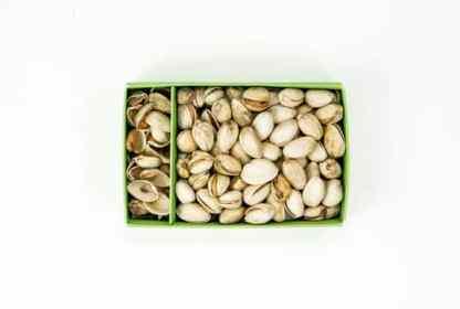 Interior caja de pistachos pistamed