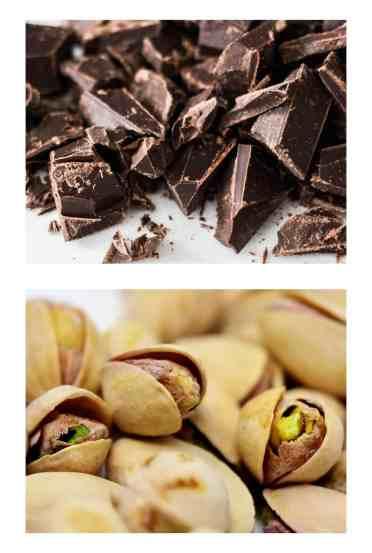 pistacho y chocolate