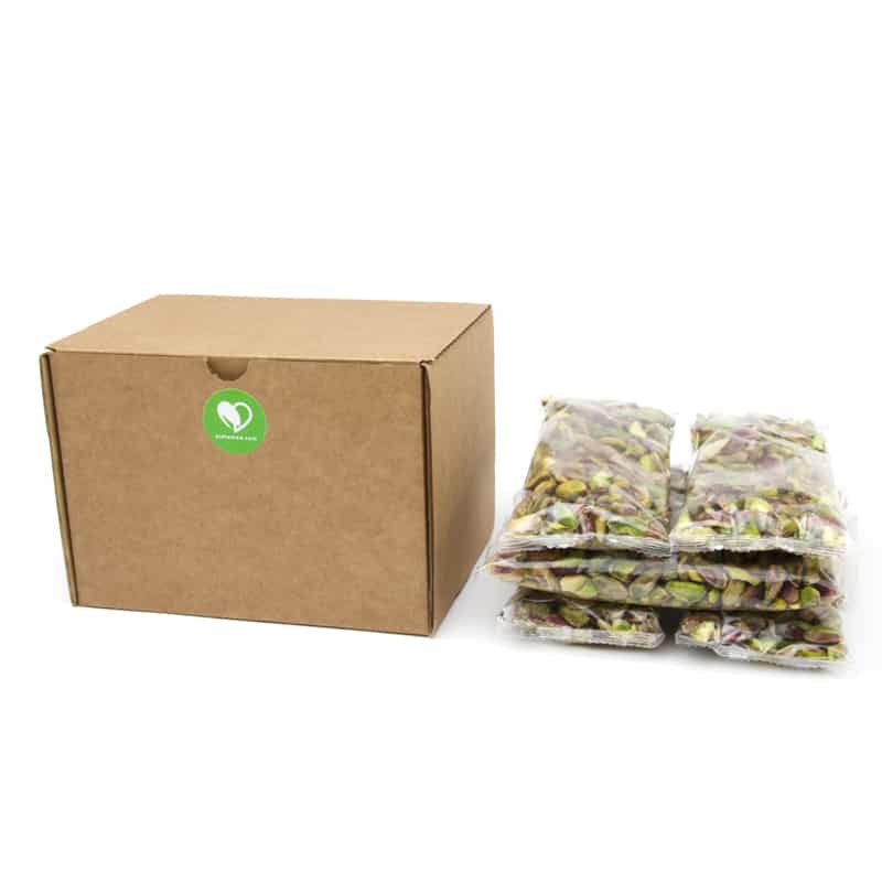 Caja de 6 bolsas de pistachos pelados