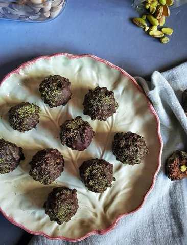 Trufas de pistachos I