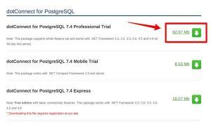 Download dotConnect for PostgreSQL 2015-12-19 12-34-14