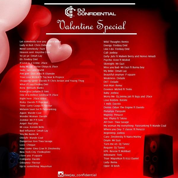 DJ Confidential Valentine Playlist Mix