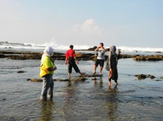 May - At Sawarna with my office friend