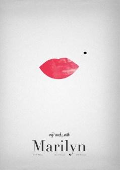 """Pôster minimalista do filme """"Sete dias com Marilyn"""""""