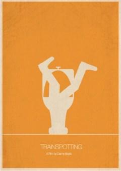 "Pôster minimalista do filme ""Trainspotting"""