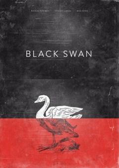 """Pôster minimalista do filme """"Cisne Negro"""""""