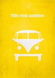 "Pôster minimalista do filme ""Pequena Miss Sunshine"""