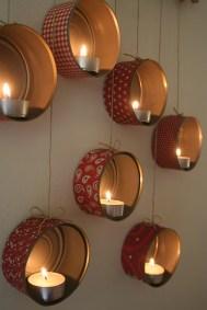 Porta-velas para uma decoração romântica.