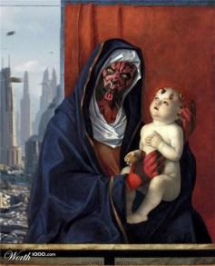 """Releitura de """"Madonna e a criança"""", de Giovanni Bellini"""