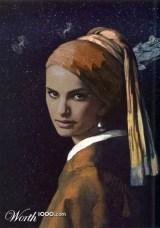 """Releitura de """"Moça com o Brinco de Pérola"""", de Johannes Vermeer"""