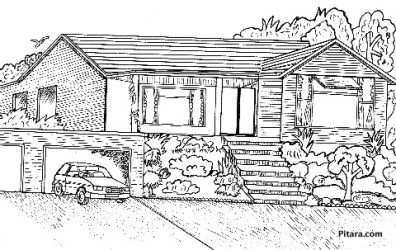 coloring pages buildings pitara
