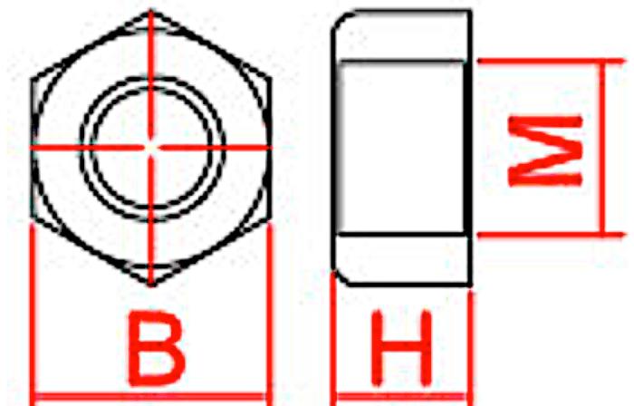 dimensions vis plastique