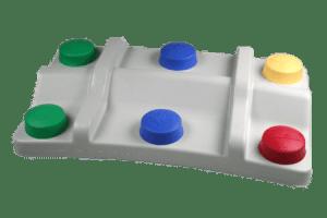pédale clown : couleurs pour différencier les fonctions