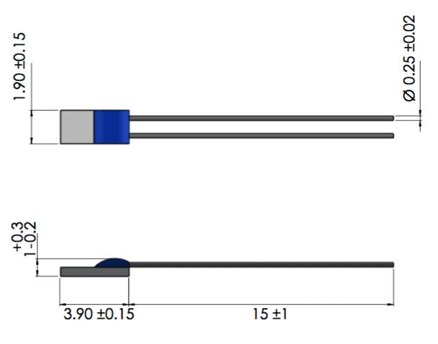 dimensions sonde ERTDC