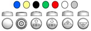 pictogramme et couleur des boutons 6241