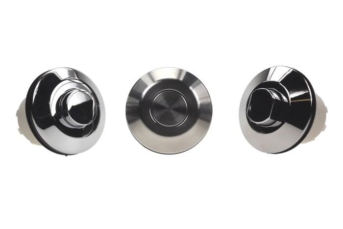 6442 boutons poussoir chromes ou en acier inoxydable