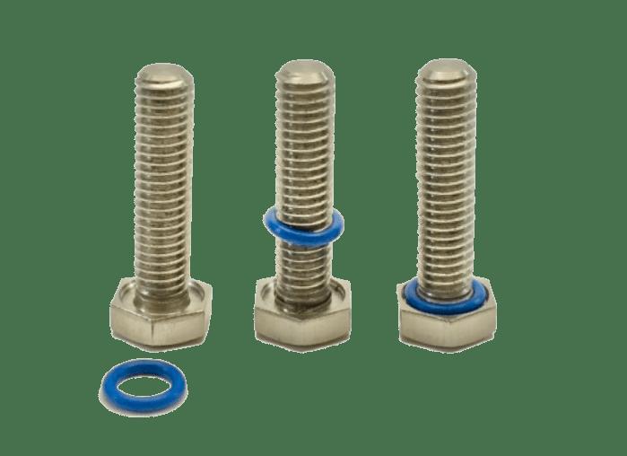Montage joint silicone sur vis à tête hexagonale APM HEXSEAL