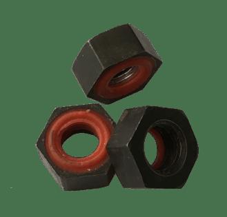 Écrou zingué noir avec joint etanche