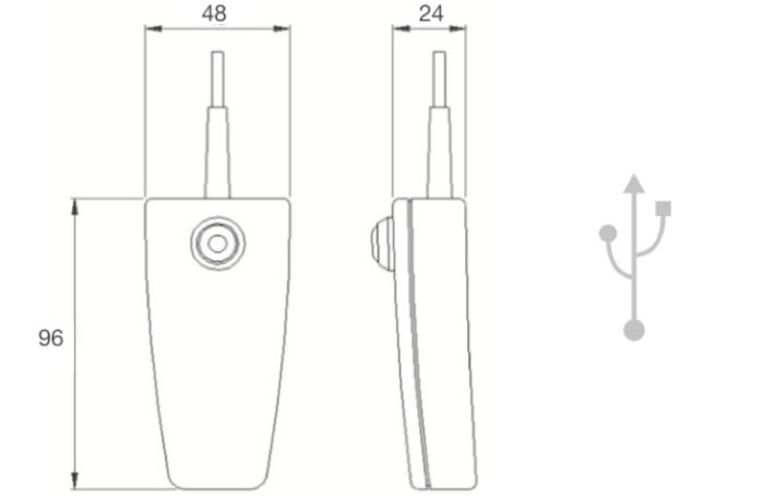 dimensions télécommande 6310 USB herga
