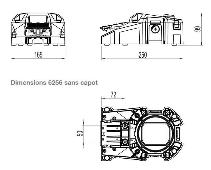 dimensions pédale potentiométrique 6256 sans capot