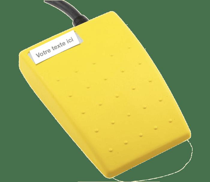 pedale jaune medicale etanche 6224-CBDB-ZCZC-000