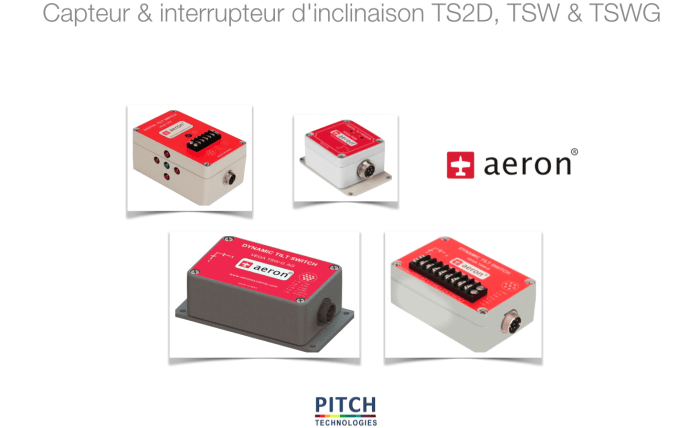 Capteur & interrupteur d'inclinaison TS2D, TSW & TSWG