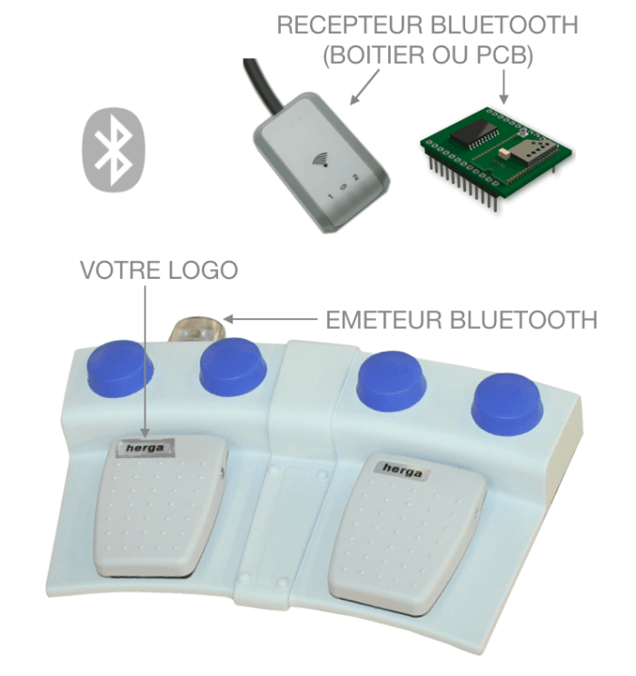 PEDALE BLUETOOTH DOUBLE