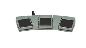 6289-02 pédale triple métal