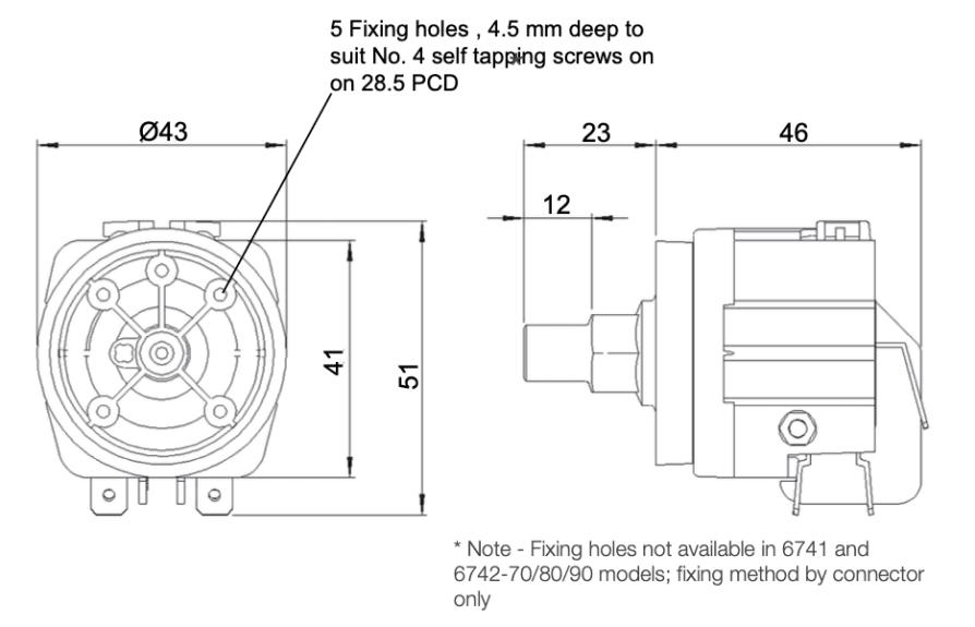 dimensions manostat 6742-30dimensions manostat 6742-30