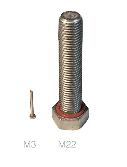 taille vis étanche M3 M22 tête hexagonale