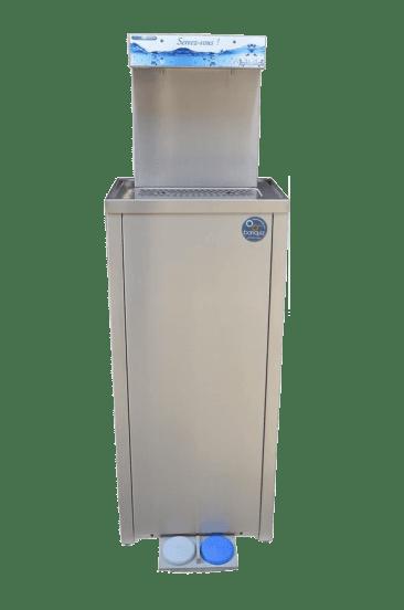 distributeur d'eau fraiche à pédale