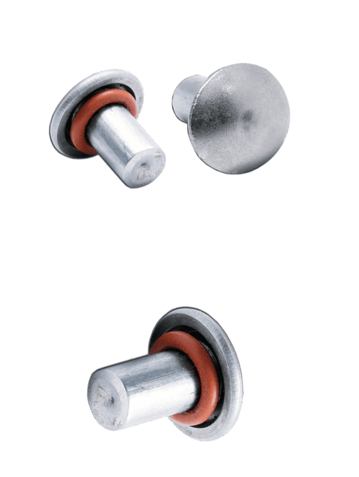 rivets de fixatin avec joitn silicone inox A4 A2