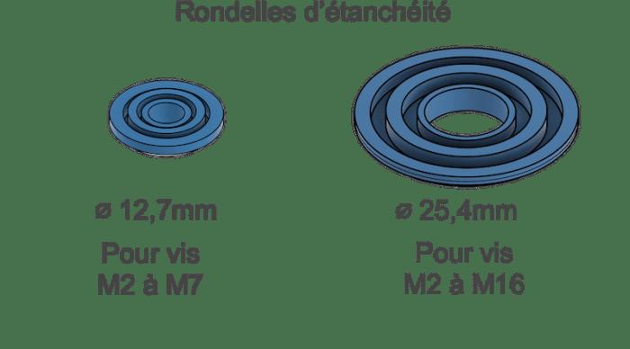 rondelles d étanchéité taille en 12 ou 25mm