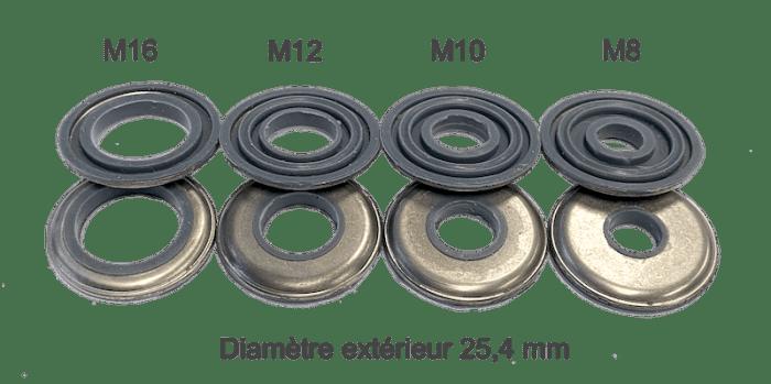 rondelles étanches M8 M10 M12 M16