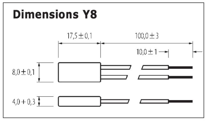 Dimensions Limiteur de température Y