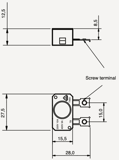 Interrupteur bimétallique hautes températures