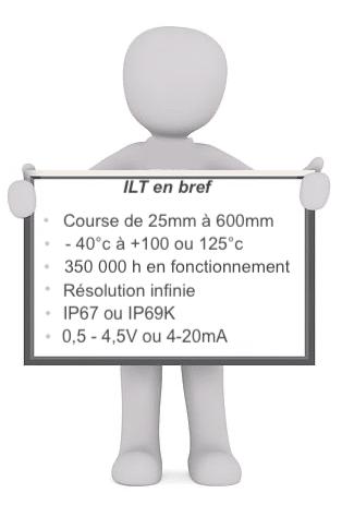 caractéristiques capteur linéaire ILT