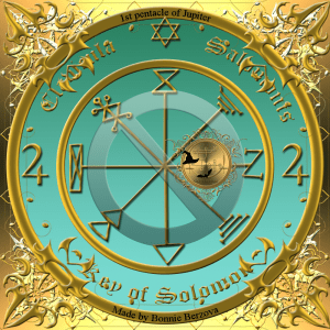 This is the 1st pentacle of Jupiter (central part).
