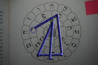 Dies ist das Siegel des Saturngeistes Rakhaniel aus dem 5. Pentakel des Saturn.