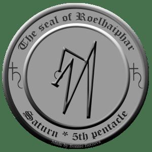 Dies ist das Siegel des Saturngeistes Roelhaiphar aus dem 5. Pentakel des Saturn.