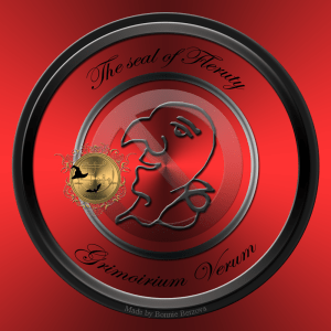 Это печать демона Флерути из Гримориума Верума, приносящего град и бури.