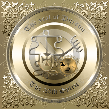 This is the seal of Purson from Goetia. Magick of Goetia