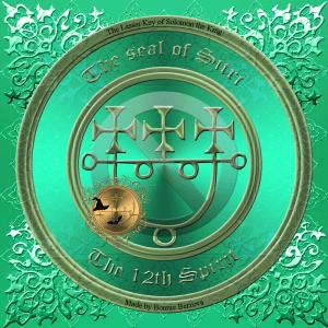 Dämon Sitri wird in der Goetia und im Pseudomonarchia Daemonum beschrieben. Das ist sein Siegel.