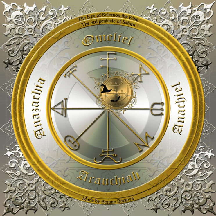 3rd Saturn pentacle/central disc